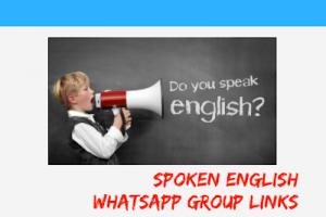 English whatsapp groups